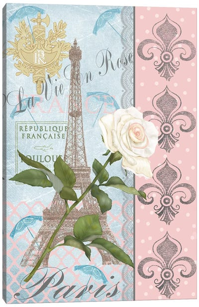 La Vie en Rose I Canvas Art Print