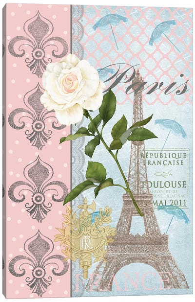 La Vie en Rose II Canvas Art Print