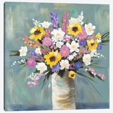 Mixed Pastel Bouquet I Canvas Print #JAD15} by Jade Reynolds Canvas Art Print