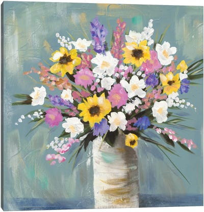 Mixed Pastel Bouquet I Canvas Art Print