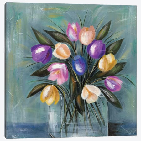 Mixed Pastel Bouquet II Canvas Print #JAD16} by Jade Reynolds Canvas Print