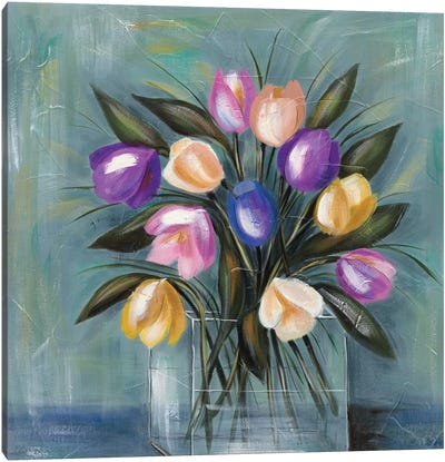 Mixed Pastel Bouquet II Canvas Art Print