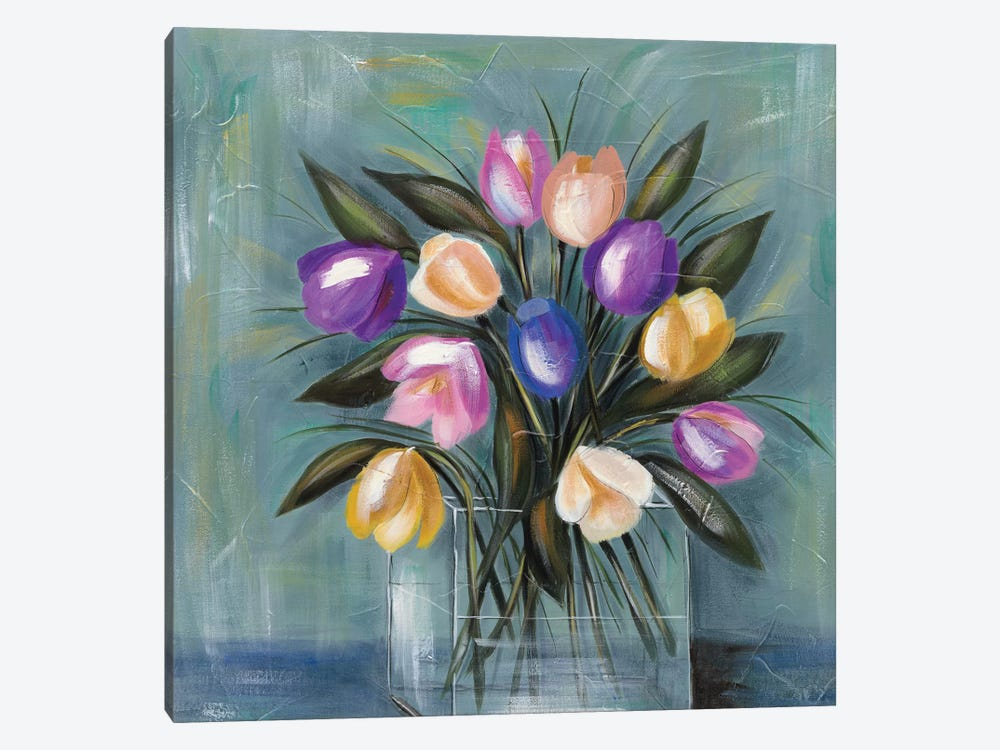 Mixed Pastel Bouquet II by Jade Reynolds 1-piece Canvas Print