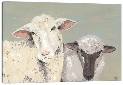 Sweet Lambs I Canvas Art Print