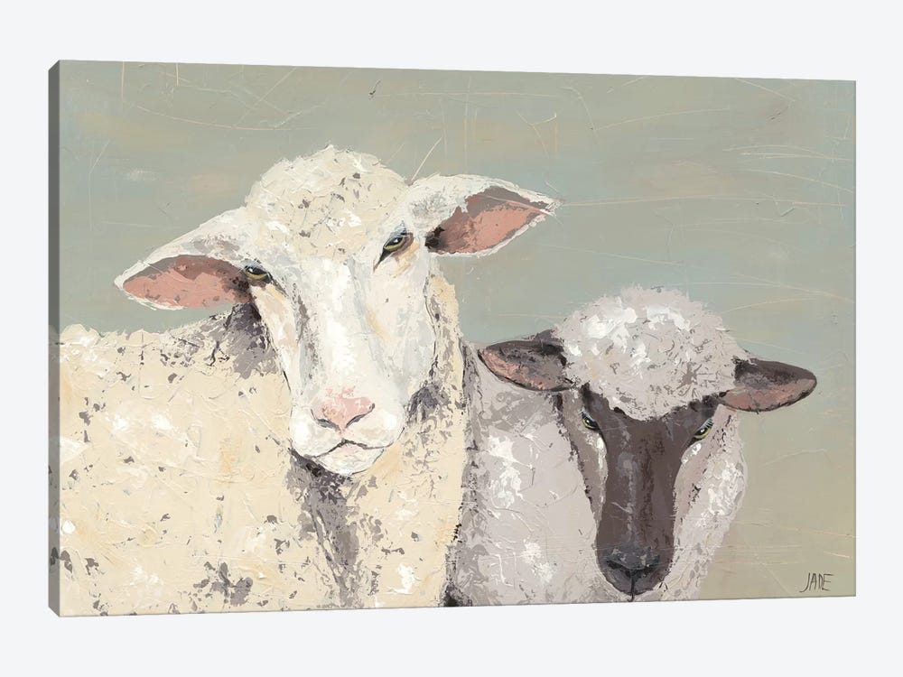Sweet Lambs I by Jade Reynolds 1-piece Canvas Art