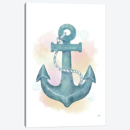 Watercolor Anchor Canvas Print #JAD19} by Jade Reynolds Canvas Wall Art