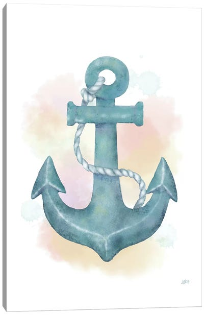 Watercolor Anchor Canvas Art Print
