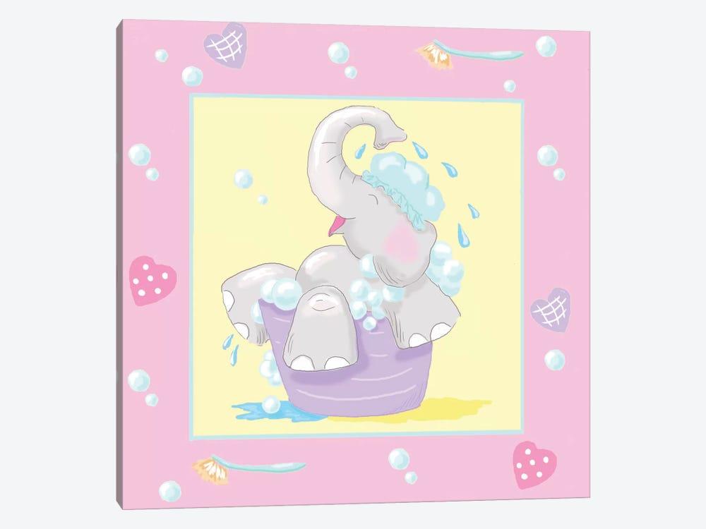 Baby Elephant Bath III Canvas Wall Art by Jade Reynolds   iCanvas