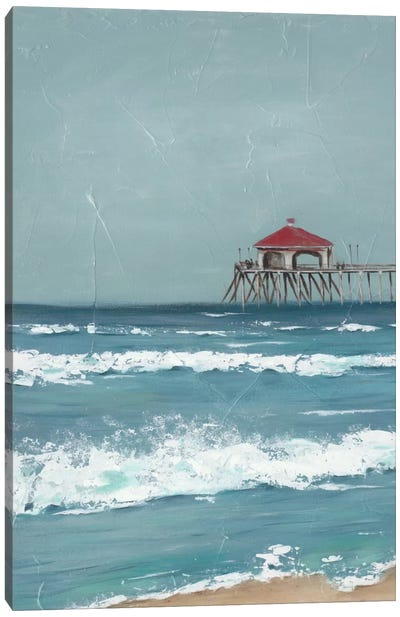 Fishing Pier Diptych I Canvas Art Print