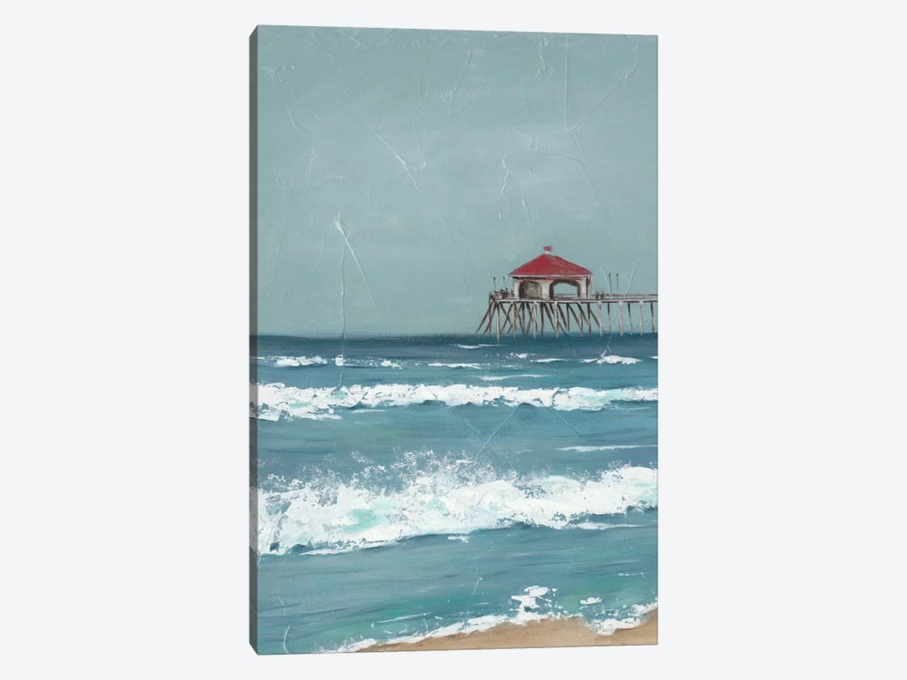 Fishing Pier Diptych I by Jade Reynolds 1-piece Canvas Print