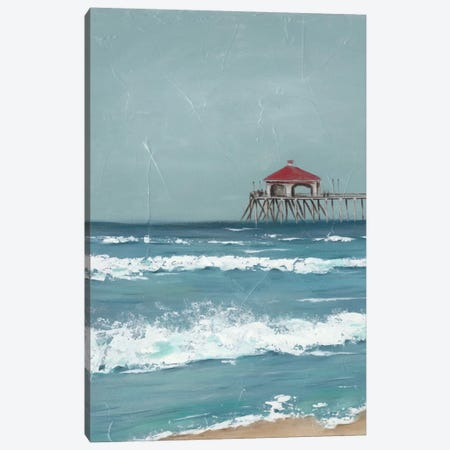 Fishing Pier Diptych I 3-Piece Canvas #JAD29} by Jade Reynolds Canvas Art Print
