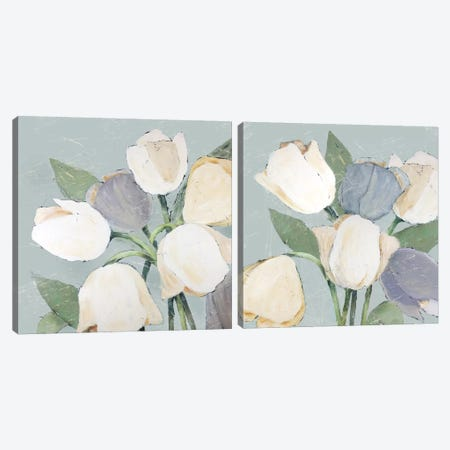 French Tulips Diptych Canvas Print Set #JAD2HSET001} by Jade Reynolds Art Print