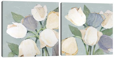 French Tulips Diptych Canvas Art Print