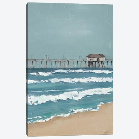 Fishing Pier Diptych II Canvas Print #JAD30} by Jade Reynolds Canvas Artwork