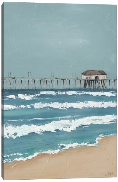 Fishing Pier Diptych II Canvas Art Print