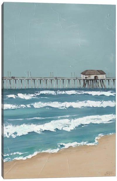 Fishing Pier Diptych II Canvas Art Print