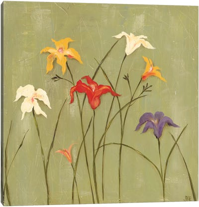 Jeweled Lilies I Canvas Art Print