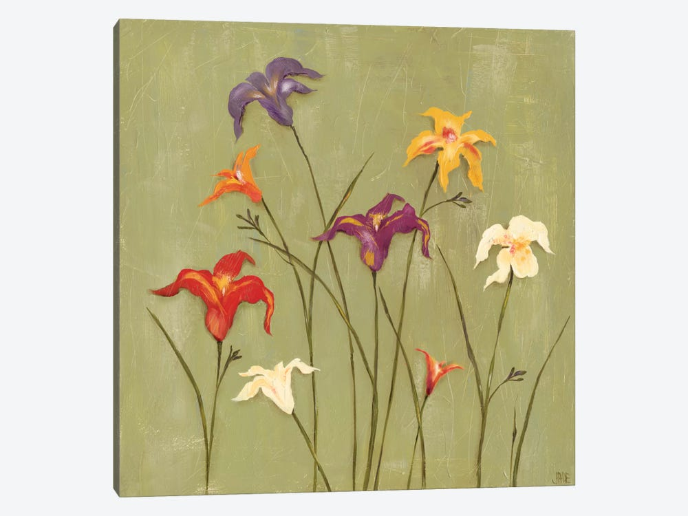 Jeweled Lilies II by Jade Reynolds 1-piece Canvas Print