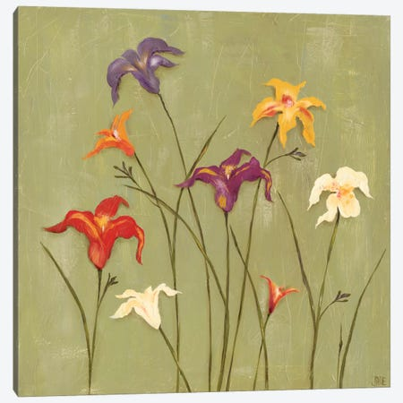 Jeweled Lilies II Canvas Print #JAD32} by Jade Reynolds Canvas Art