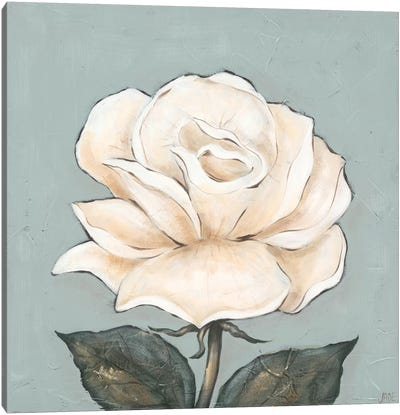 One Tan Rose Canvas Art Print