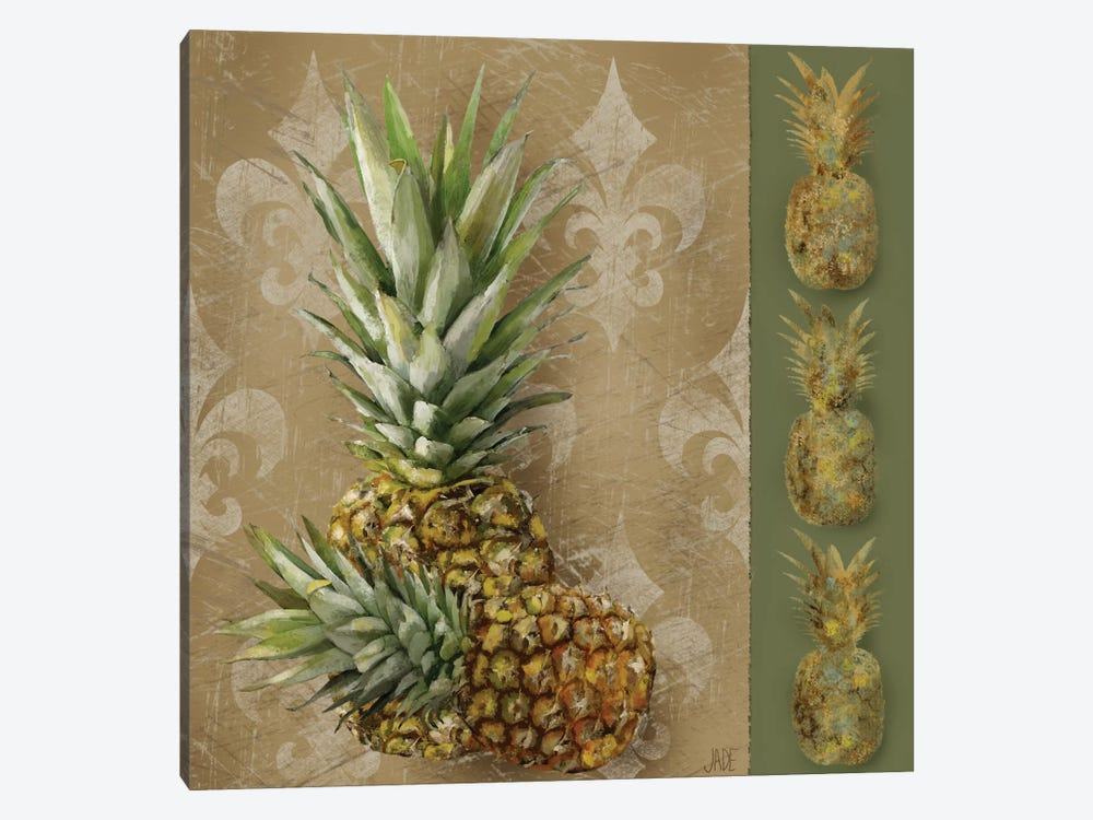 Pineapple Welcome II by Jade Reynolds 1-piece Canvas Art