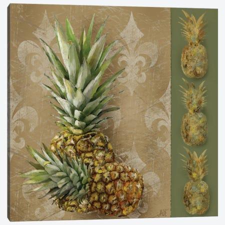 Pineapple Welcome II Canvas Print #JAD37} by Jade Reynolds Art Print
