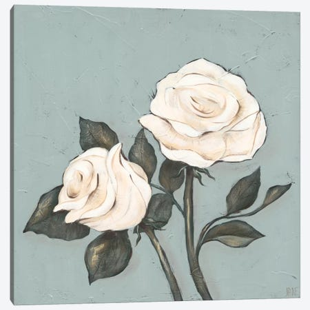Two Tan Roses Canvas Print #JAD38} by Jade Reynolds Canvas Artwork