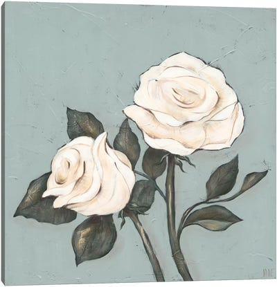 Two Tan Roses Canvas Art Print