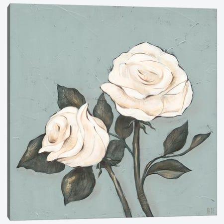 Two Tan Roses Canvas Print #JAD38} by Jade Reynolds Canvas Artwork
