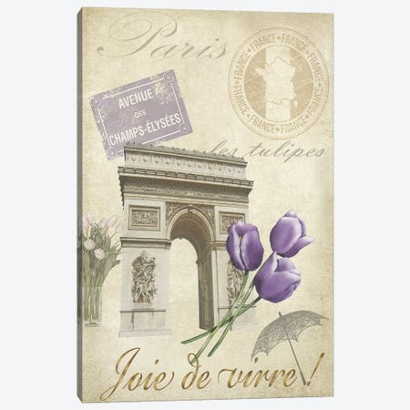 Paris Tour II Canvas Print #JAD42} by Jade Reynolds Canvas Art Print