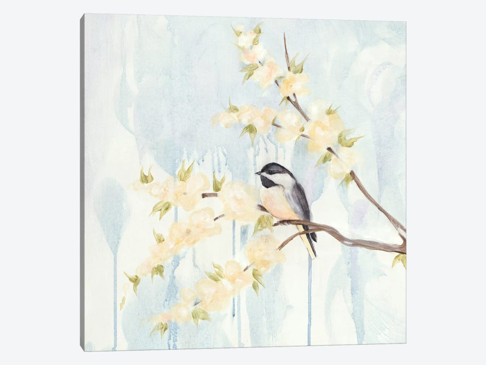 Spring Chickadees I by Jade Reynolds 1-piece Canvas Print