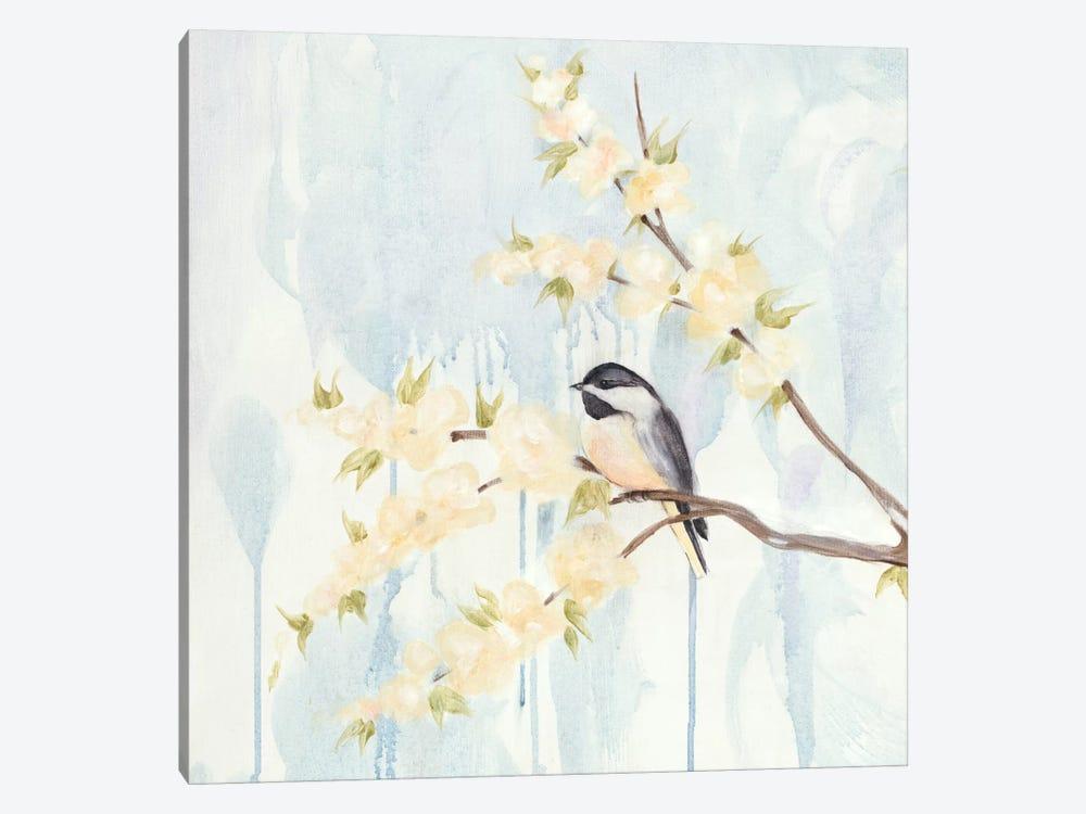 Spring Chickadees I by Jade Reynolds 1-piece Canvas Print