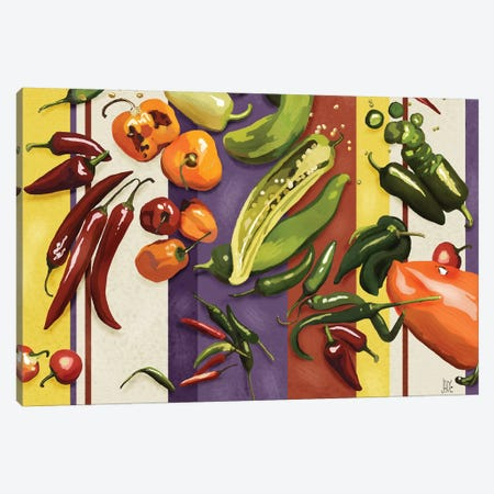 Sarape Peppers I Canvas Print #JAD51} by Jade Reynolds Canvas Wall Art