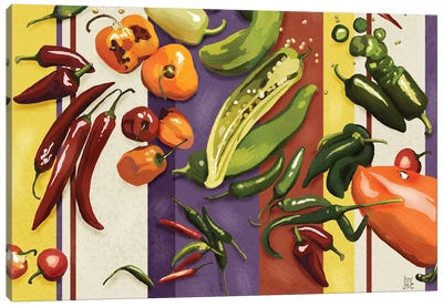 Sarape Peppers I Canvas Art Print