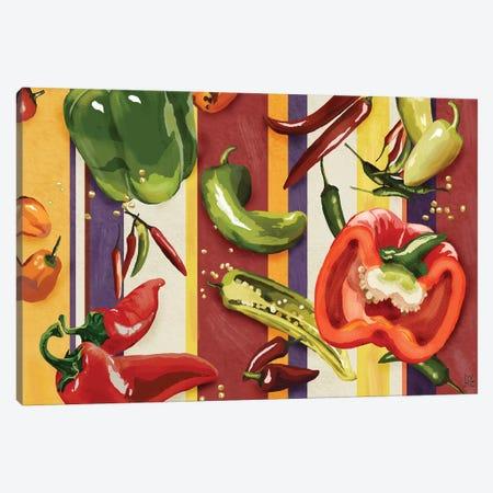 Sarape Peppers II Canvas Print #JAD52} by Jade Reynolds Canvas Artwork