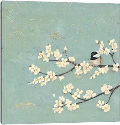 Chickadee & Dogwood I Canvas Art Print