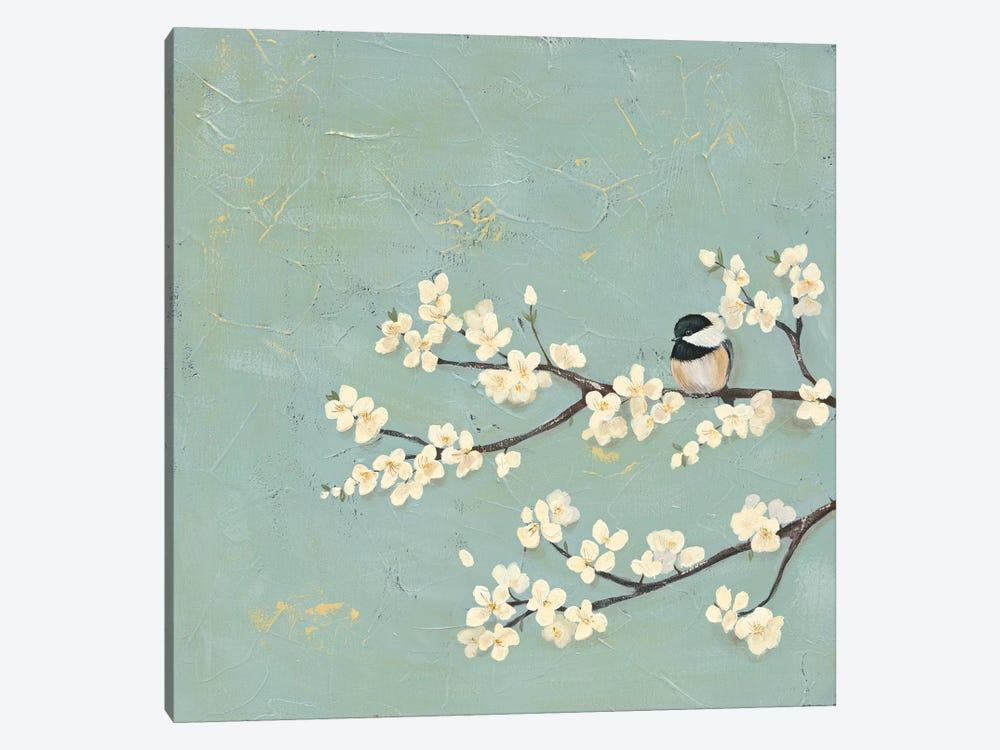 Chickadee & Dogwood I by Jade Reynolds 1-piece Art Print