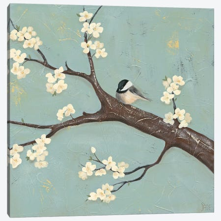 Chickadee & Dogwood II Canvas Print #JAD57} by Jade Reynolds Canvas Art Print
