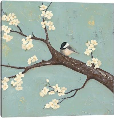 Chickadee & Dogwood II Canvas Art Print