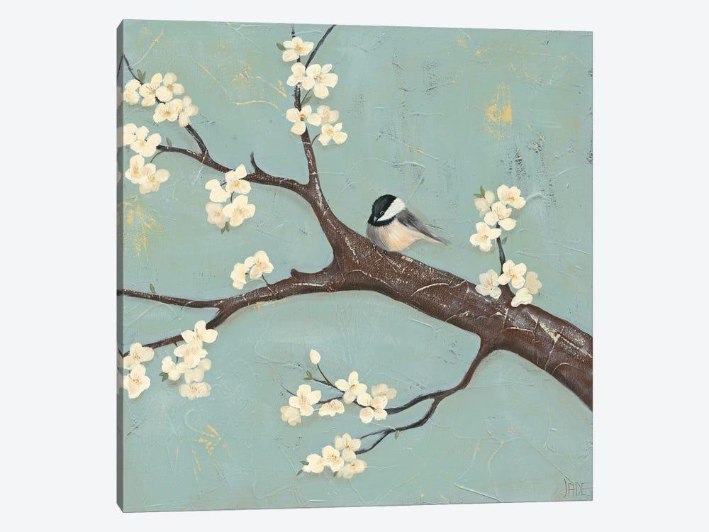 Chickadee & Dogwood II by Jade Reynolds 1-piece Canvas Art