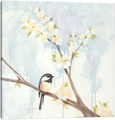 Spring Chickadees II Canvas Art Print