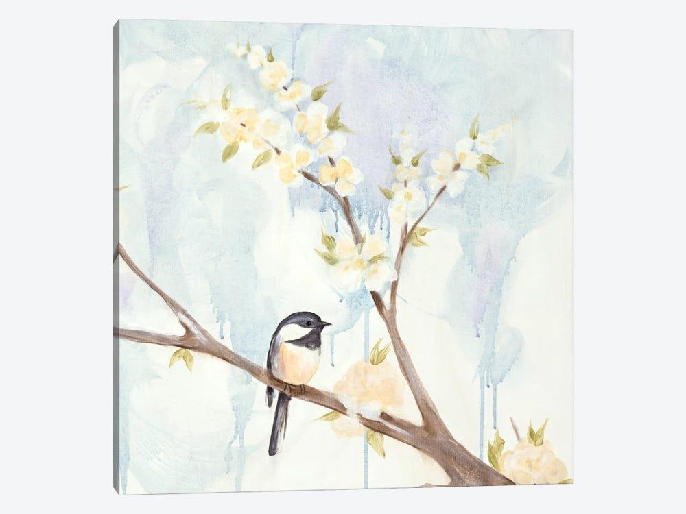 Spring Chickadees II by Jade Reynolds 1-piece Canvas Wall Art