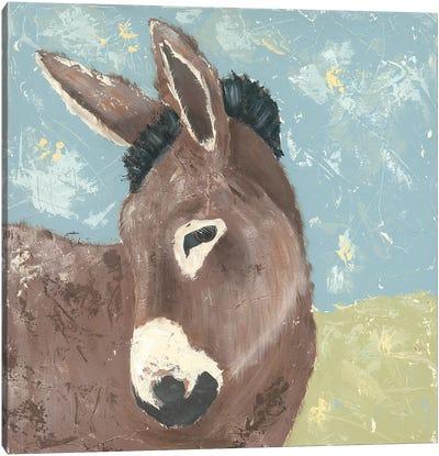Farm Life-Donkey Canvas Art Print