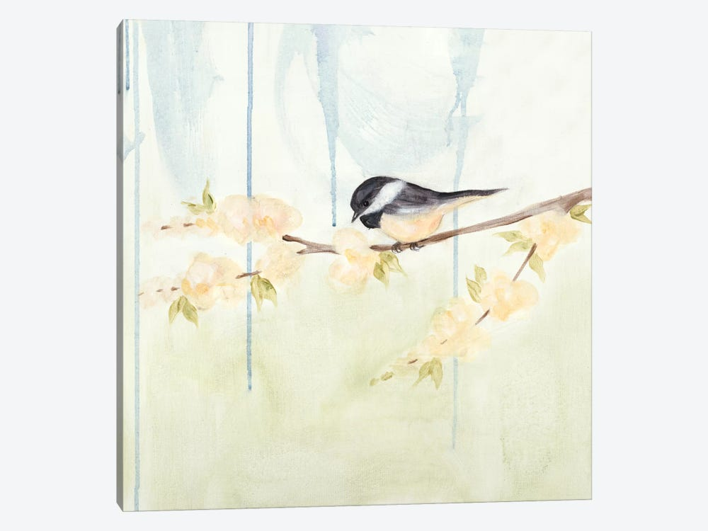 Spring Chickadees III by Jade Reynolds 1-piece Canvas Art Print