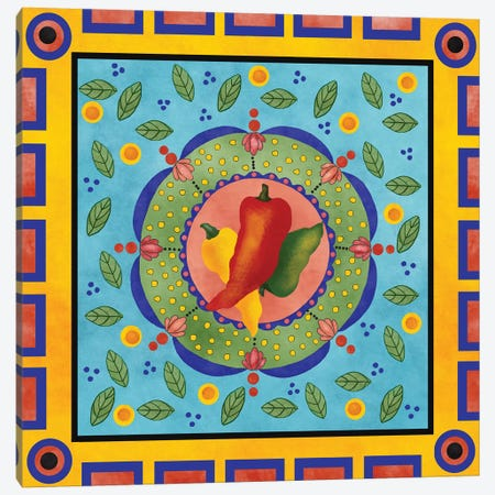 Spanish Peppers I Canvas Print #JAD75} by Jade Reynolds Canvas Print