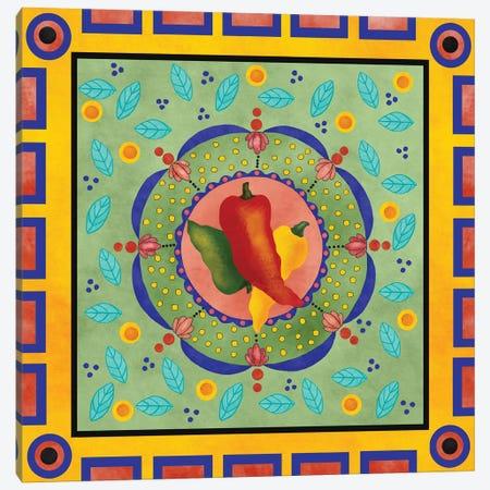 Spanish Peppers II Canvas Print #JAD76} by Jade Reynolds Art Print