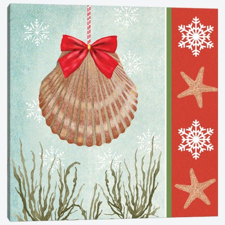 Christmas Coastal I Canvas Print #JAD7} by Jade Reynolds Canvas Print