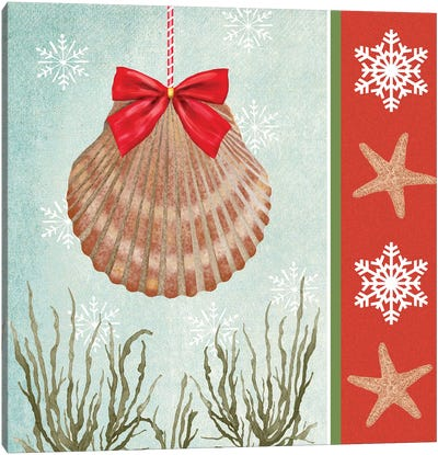Christmas Coastal I Canvas Art Print
