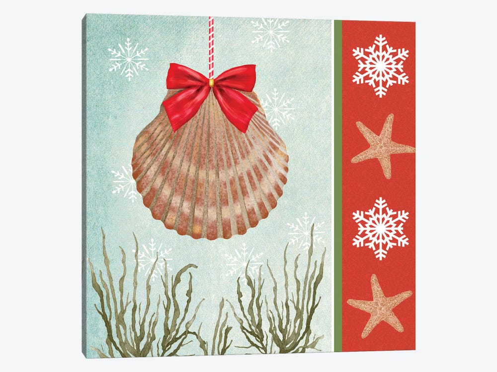 Christmas Coastal I by Jade Reynolds 1-piece Canvas Artwork