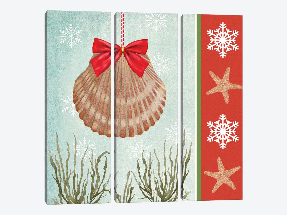 Christmas Coastal I 3-piece Canvas Artwork